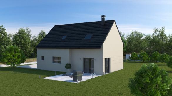 Maison+Terrain à vendre .(101 m²)(SAINT FARGEAU PONTHIERRY) avec (MAISONS.COM)