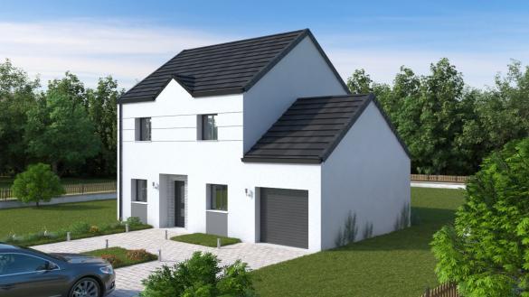 Maison+Terrain à vendre .(103 m²)(LE PLESSIS BELLEVILLE) avec (MAISONS.COM)