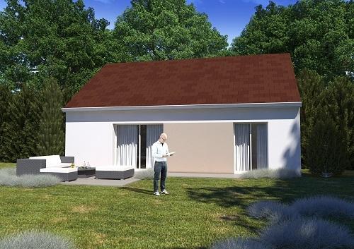 Maison+Terrain à vendre .(75 m²)(LA CHAPELLE GAUTHIER) avec (MAISONS.COM)