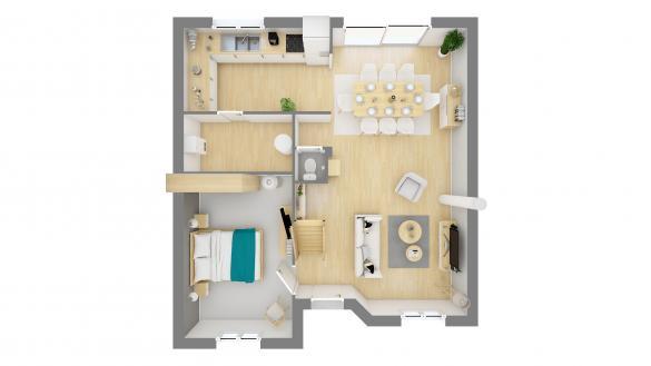 Maison+Terrain à vendre .(LE PLESSIS BELLEVILLE) avec (MAISONS.COM)