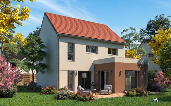 Maison+Terrain à vendre .(118 m²)(ROINVILLE) avec (MAISONS.COM)