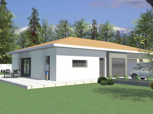 Maison+Terrain à vendre .(85 m²)(LESPIGNAN) avec (MAISONS FRANCE BATIMENT)