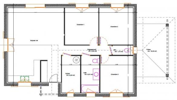 Maison à vendre .(87 m²)(BIANS LES USIERS) avec (TRADITION LOGIS NORD EST)