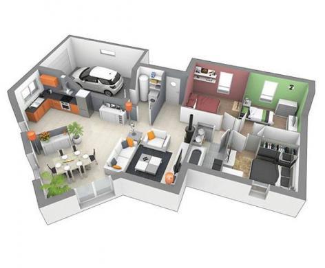Maison+Terrain à vendre .(100 m²)(SAINT VINCENT) avec (MAISONS D EN FRANCE - MONISTROL SUR LOIRE)