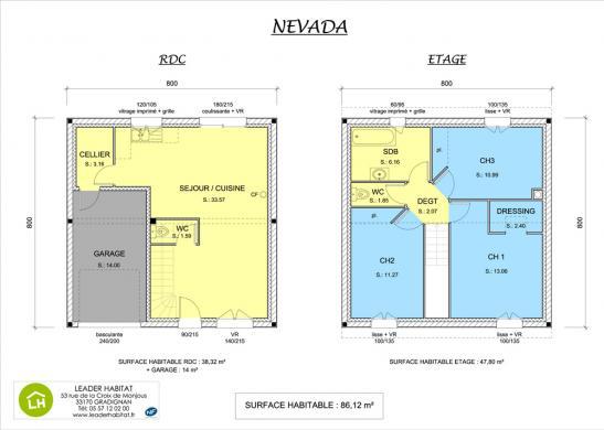 Maison+Terrain à vendre .(86 m²)(EYSINES) avec (LEADER HABITAT)