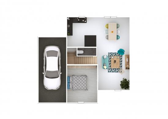 Maison+Terrain à vendre .(91 m²)(AUBIGNAN) avec (MAISONS PUNCH)