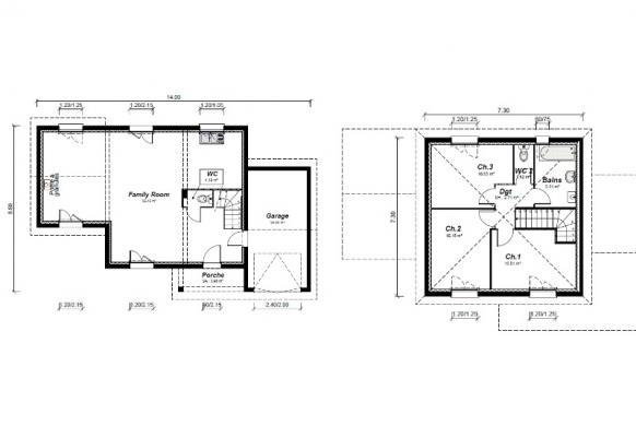 Maison+Terrain à vendre .(97 m²)(BAGNOLS SUR CEZE) avec (MAISONS PUNCH)