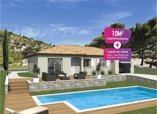 Maison+Terrain à vendre .(95 m²)(SABRAN) avec (MAISONS PUNCH)