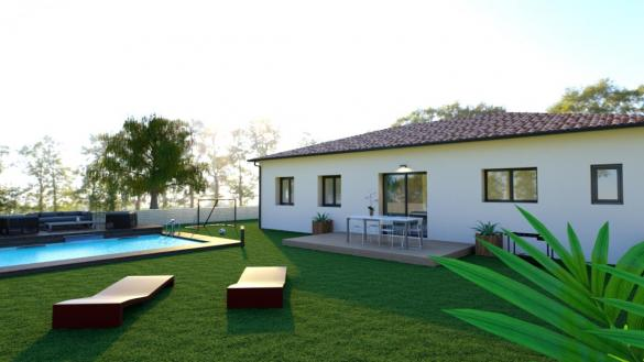 Maison à vendre .(95 m²)(BRUGUIERES) avec (TRADICONFORT 31)