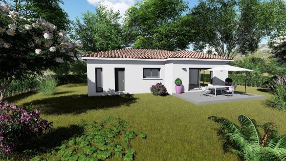Maison+Terrain à vendre .(90 m²)(SAINT LAGER BRESSAC) avec (HABITAT SUD EST)