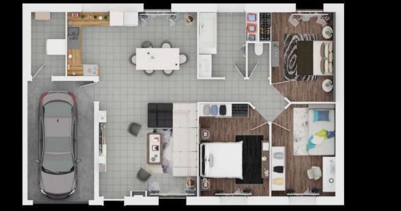 Maison à vendre .(89 m²)(FRONTENAC) avec (MAISONS PIERRE - PESSAC)