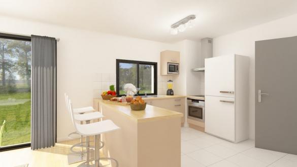 Maison+Terrain à vendre .(108 m²)(TREILLIERES) avec (Maison Familiale Nantes)