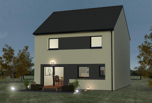 Maison+Terrain à vendre .(80 m²)(COURRIERES) avec (MAISON EUREKA)