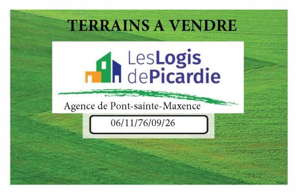Terrain à vendre .(CATENOY) avec (LES LOGIS DE PICARDIE - AGENCE DE PONT SAINTE MAXENCE)