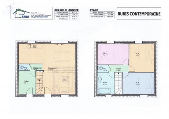Maison+Terrain à vendre .(85 m²)(JUMEAUVILLE) avec (MAISON SMA)
