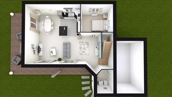 Maison à vendre .(101 m²)(BERVILLE EN ROUMOIS) avec (MAISONS FRANCE STYLE)