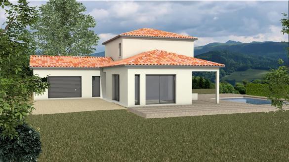 Maison+Terrain à vendre .(118 m²)(MANZIAT) avec (MAISONS ARLOGIS)