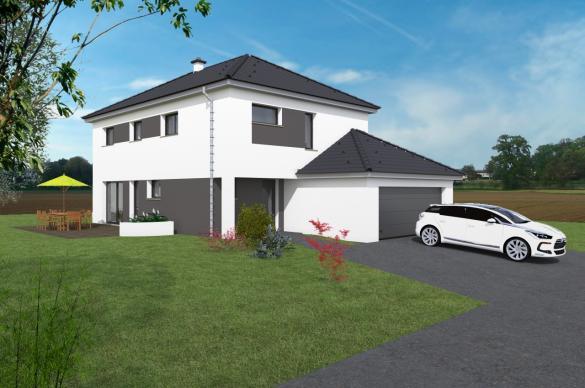 Maison+Terrain à vendre .(150 m²)(RIEDISHEIM) avec (MAISONS CRISALIS)
