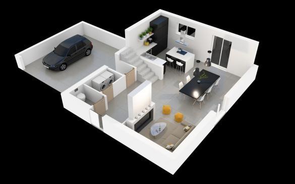 Maison+Terrain à vendre .(120 m²)(BURNHAUPT LE BAS) avec (MAISONS CRISALIS)