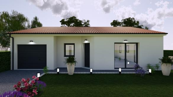Maison+Terrain à vendre .(PONT DU CHATEAU) avec (TRADIMAISONS)