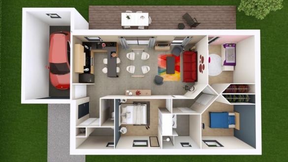Maison à vendre .(76 m²)(VOLVIC) avec (MAISONS ELAN)