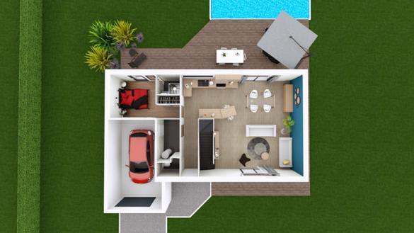 Maison à vendre .(109 m²)(SAINT CIRGUES SUR COUZE) avec (MAISONS ELAN)