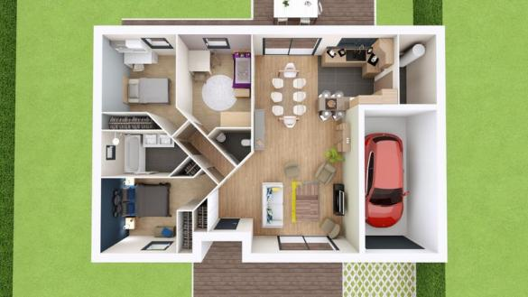 Maison à vendre .(89 m²)(SAINT CIRGUES SUR COUZE) avec (MAISONS ELAN)