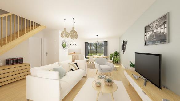 Maison+Terrain à vendre .(106 m²)(GISORS) avec (MAISONS PHENIX MOISSELLES/BAILLET EN FC)