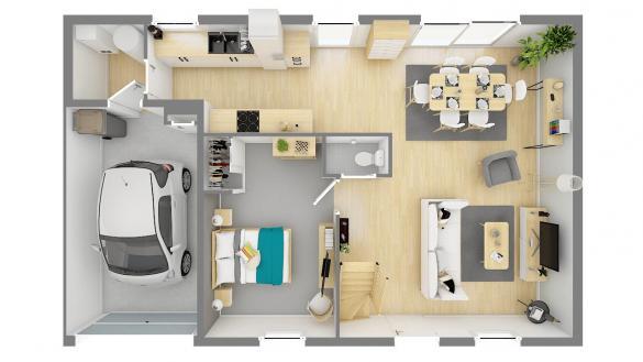 Maison+Terrain à vendre .(105 m²)(RONQUEROLLES) avec (MAISONS PHENIX MOISSELLES/BAILLET EN FC)