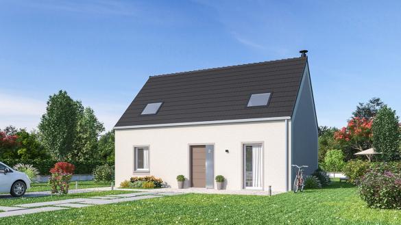 Maison+Terrain à vendre .(107 m²)(ABBECOURT) avec (MAISONS PHENIX MOISSELLES/BAILLET EN FC)