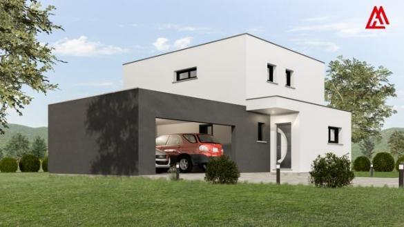 Maison+Terrain à vendre .(100 m²)(GAMBSHEIM) avec (MAISONS ARLOGIS)