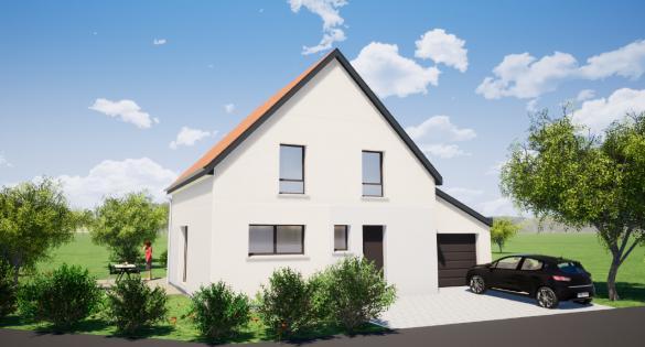 Maison+Terrain à vendre .(100 m²)(BALDENHEIM) avec (MAISONS ARLOGIS)