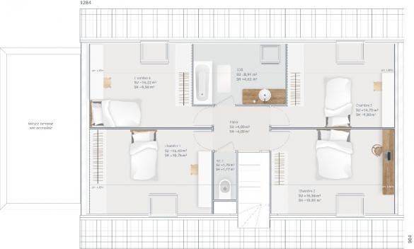 Maison+Terrain à vendre .(145 m²)(OLIVET) avec (MAISONS FRANCE CONFORT)