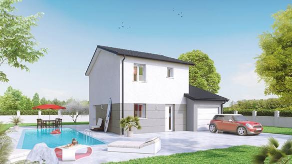 Maison à vendre .(85 m²)(FRANS) avec (Crea Concept Villefranche)