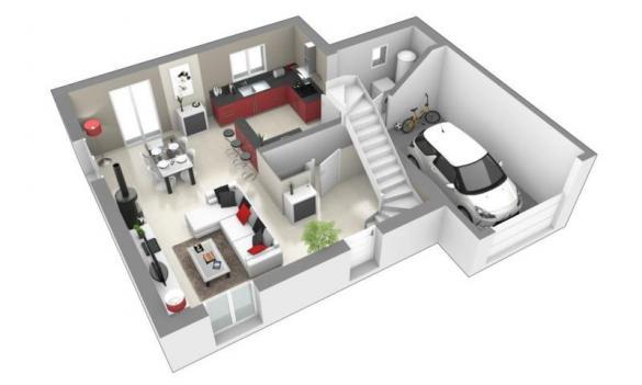 Maison+Terrain à vendre .(111 m²)(LES OLMES) avec (MAISONS AXIAL)
