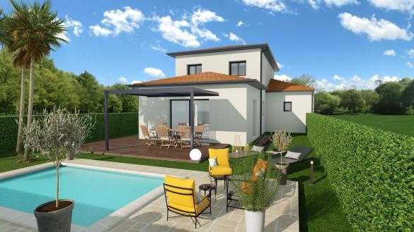 Maison+Terrain à vendre .(120 m²)(SAINT BONNET DE MURE) avec (MAISONS AXIAL)