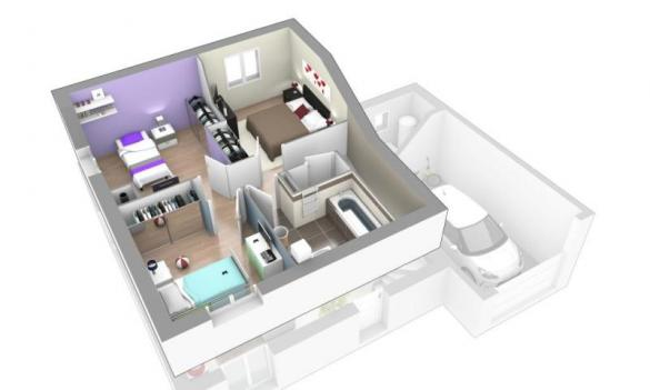 Maison+Terrain à vendre .(91 m²)(VILLEMOIRIEU) avec (MAISONS AXIAL)