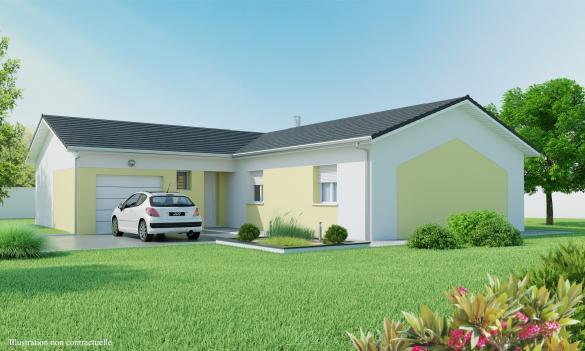 Maison+Terrain à vendre .(90 m²)(CIVRIEUX) avec (MAISONS AXIAL)