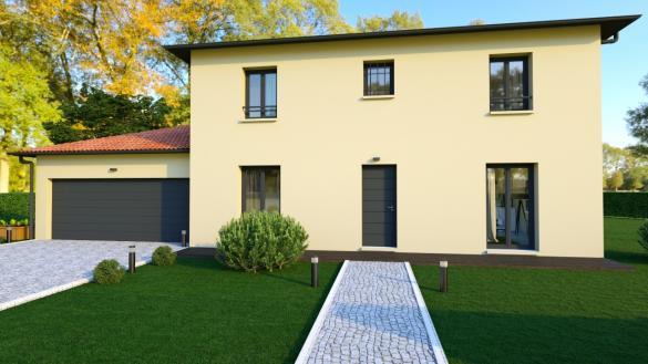 Maison+Terrain à vendre .(140 m²)(SAINT CLEMENT LES PLACES) avec (MAISONS AXIAL)