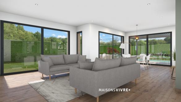 Maison+Terrain à vendre .(134 m²)(COLLONGES AU MONT D'OR) avec (MAISONS VIVRE PLUS)