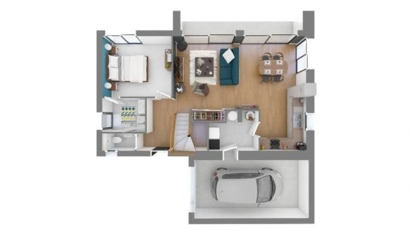 Maison+Terrain à vendre .(95 m²)(TREBES) avec (MAISONS FRANCE CONFORT)