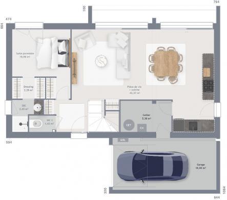 Maison+Terrain à vendre .(115 m²)(SOMMERVIEU) avec (MAISONS FRANCE CONFORT)