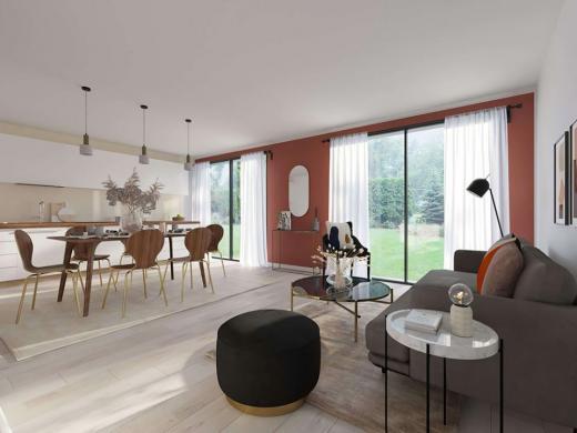 Maison+Terrain à vendre .(90 m²)(FRESNEY LE VIEUX) avec (MAISONS FRANCE CONFORT)