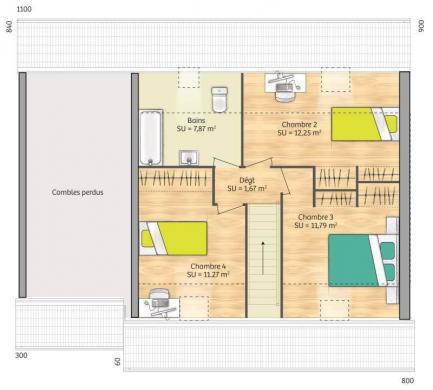 Maison+Terrain à vendre .(89 m²)(CLINCHAMPS SUR ORNE) avec (MAISONS FRANCE CONFORT)