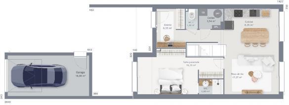 Maison+Terrain à vendre .(90 m²)(AMFREVILLE) avec (MAISONS FRANCE CONFORT)