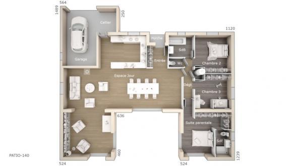 Maison+Terrain à vendre .(140 m²)(VENTABREN) avec (LES MAISONS DE MANON)