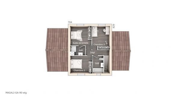 Maison+Terrain à vendre .(90 m²)(LES PENNES MIRABEAU) avec (LES MAISONS DE MANON)