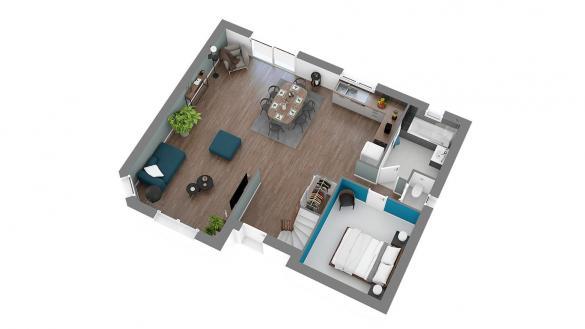 Maison+Terrain à vendre .(101 m²)(SAINT PIERRE ES CHAMPS) avec (HABITAT CONCEPT)