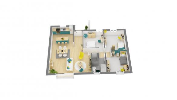 Maison+Terrain à vendre .(76 m²)(ETREPAGNY) avec (HABITAT CONCEPT)