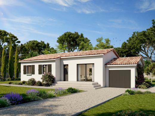 Maison+Terrain à vendre .(83 m²)(LECQUES) avec (ART ET TRADITIONS MEDITERRANEE)